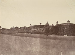 Eastern face of the Palace, Delhi.